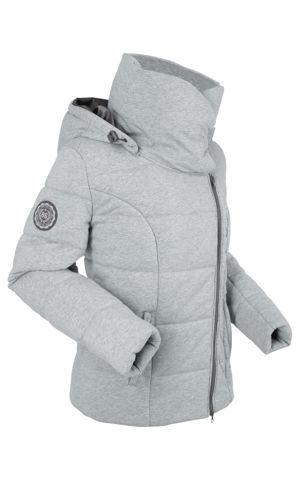 Prešívaná bunda z džerseju so šálovým golierom, vatovaná bonprix