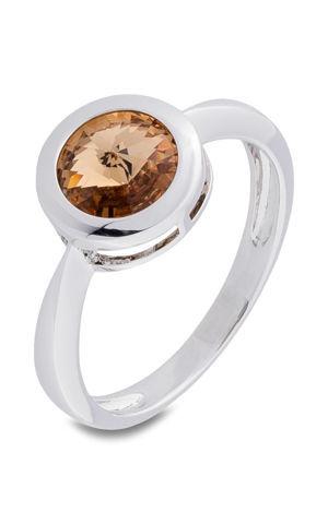 Prsteň so Swarovski® krištáľmi bonprix