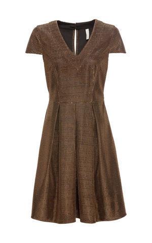 Šaty s kovovým vzhľadom bonprix
