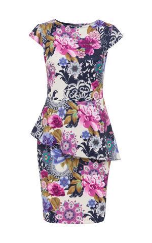 Šaty s kvetovanou potlačou bonprix