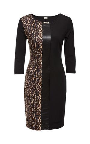 Šaty s leopardími škvrnami bonprix