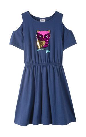 Šaty s prestrihmi, s obojsmernými flitrami bonprix