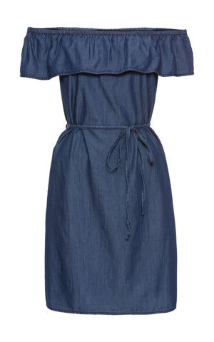 Šaty s volánom Carmen bonprix