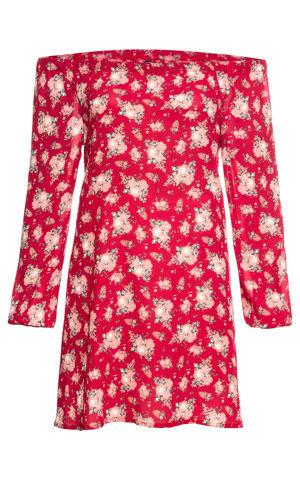Šaty s výstrihom Carmen bonprix