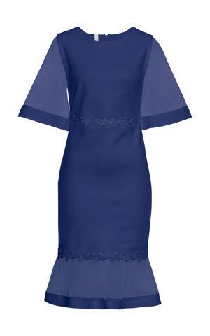 Šaty so sieťovinou a čipkou bonprix