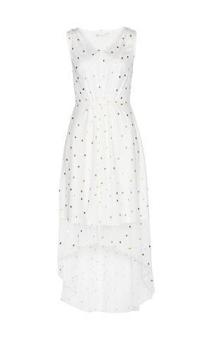 Sieťované šaty s potlačou bonprix