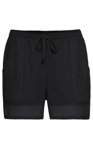 Šifónové šortky, jednofarebné bonprix