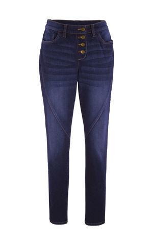Skrátené strečové džínsy s komfortným lemom bonprix