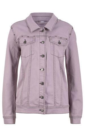 Strečová džínsová bunda s nitmi bonprix