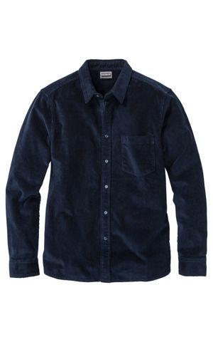 Strečová kordová košeľa s dlhým rukávom Slim Fit bonprix