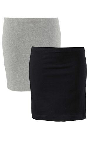Strečová úpletová sukňa (2ks v balení) bonprix