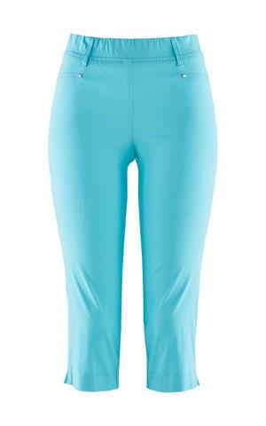 Strečové capri nohavice s elastickým pásom bonprix