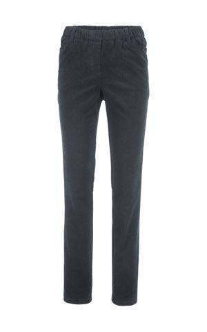 Strečové kordové nohavice v páse na gumičku bonprix