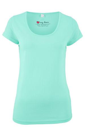 Strečové tričko s krátkym rukávom bonprix