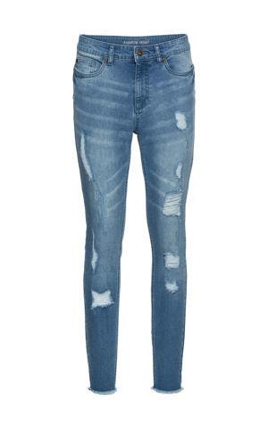 Super Skinny džínsy, skrátené, s push-up bonprix