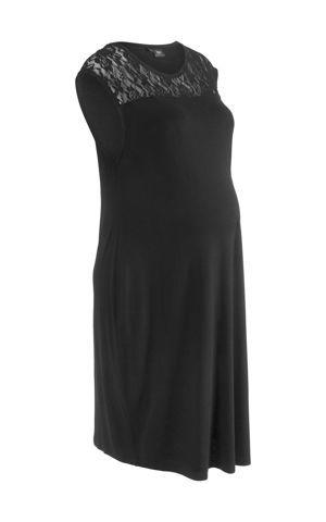 Tehotenské úpletové šaty s čipkou bonprix