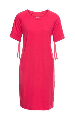 Teplákové šaty z ľahkého materiálu, krátky rukáv so šnurovaním bonprix