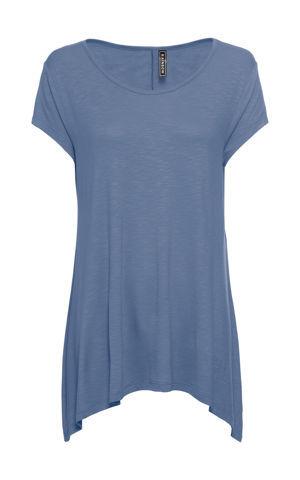 Tričko s asymetrickou dĺžkou bonprix