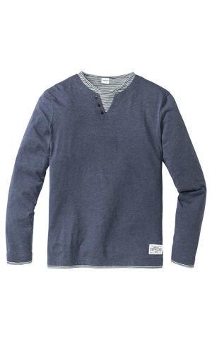 Tričko s dlhým rukávom v dvojitom vzhľade Regular Fit bonprix