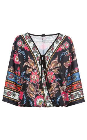 Tričko s kimonovým vzhľadom bonprix