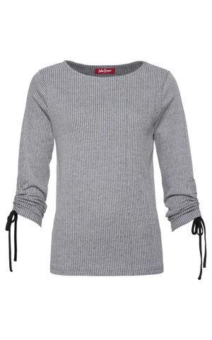 Tričko s nariasením, dlhé rukávy bonprix
