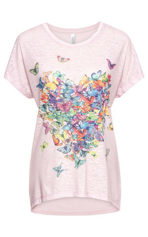 Tričko s potlačou motýľov bonprix