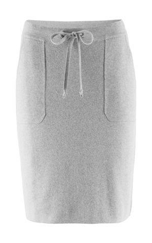 Úpletová sukňa s ozdobnými vreckami bonprix