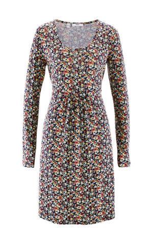 Úpletové šaty, dlhý rukáv bonprix