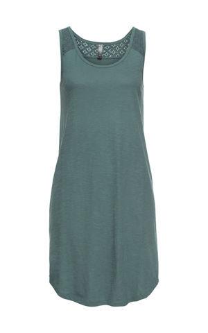 Úpletové šaty s čipkou bonprix