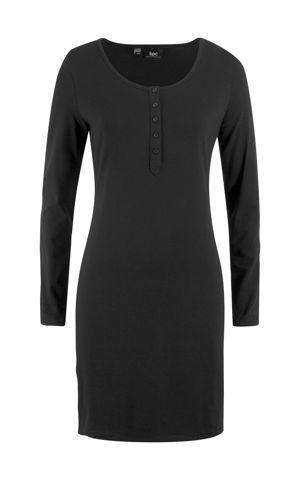 Úpletové šaty s gombíkovou légou bonprix
