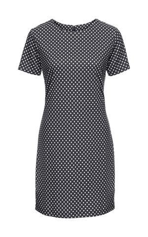 Úpletové šaty s krátkym rukávom bonprix