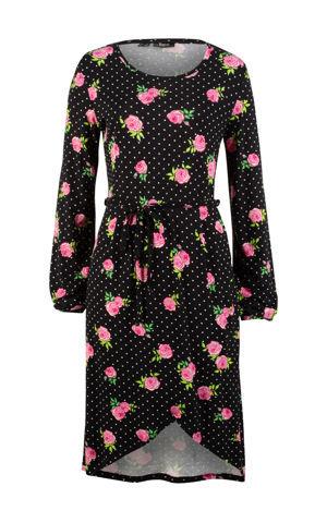 Úpletové šaty s kvetovanou potlačou bonprix