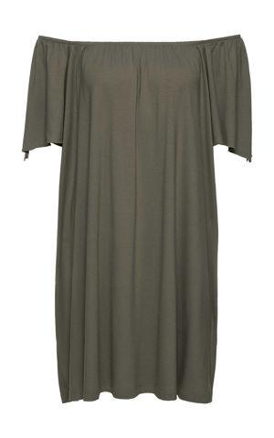 Úpletové šaty, výstrih Carmen bonprix