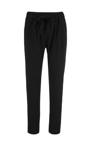 Viskózové nohavice s opaskom na zaviazanie bonprix