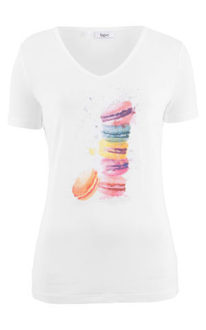 Viskózové tričko s potlačou bonprix
