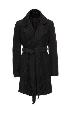 Vlnený kabát s klopami bonprix