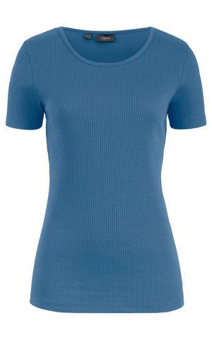 Vrúbkované tričko s krátkym rukávom bonprix