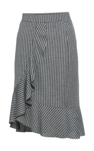 Zavinovacia sukňa z elastického žakáru bonprix